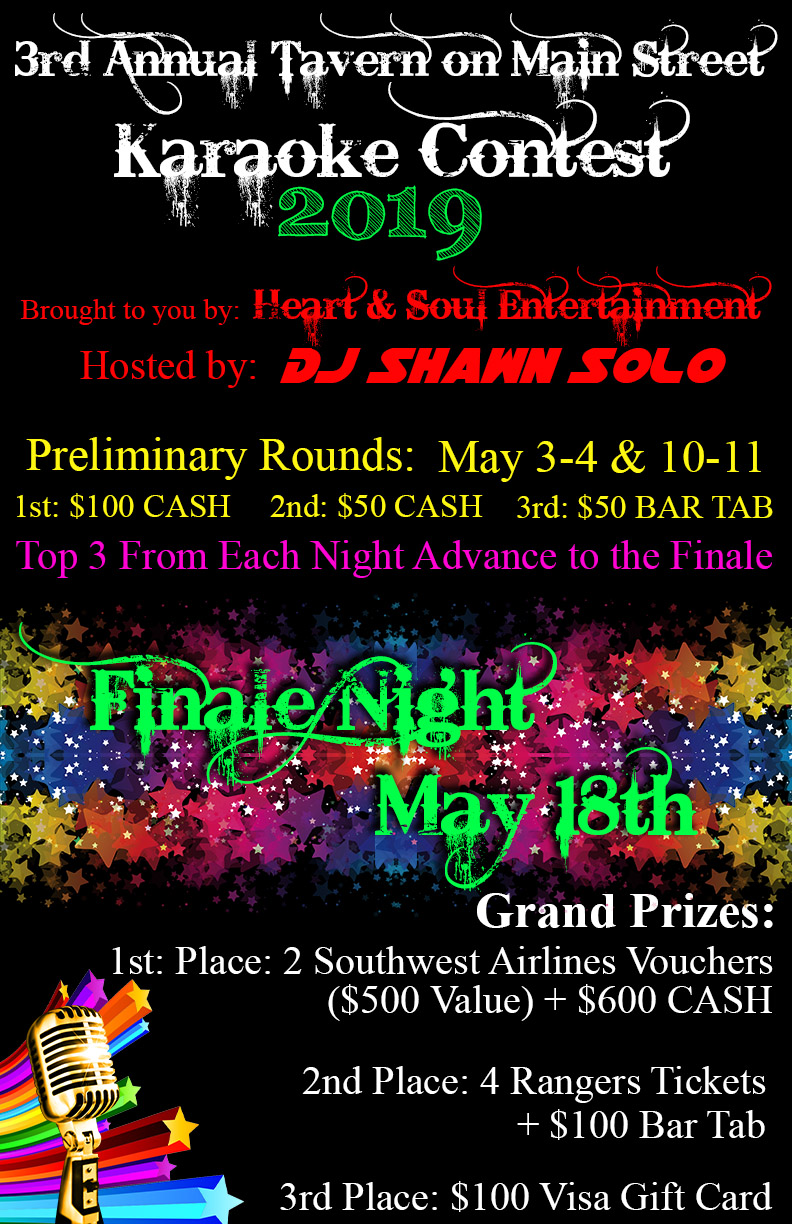 It's Back! The Dates Are Set! MAY 3RD, 4TH, 10TH, 11TH with FINALS on MAY 18TH! Judges and GREAT Prizes!! GET READY!!